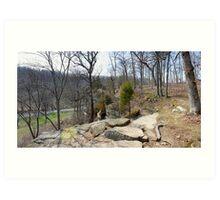 Stone Fort Trail (1) Art Print