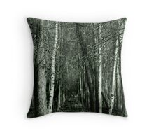 down in the woods.... Throw Pillow