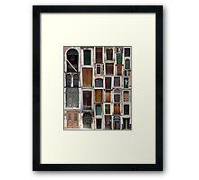 Doors Dull Framed Print