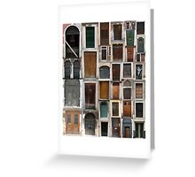 Doors Dull Greeting Card
