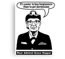 Grace Hopper Canvas Print