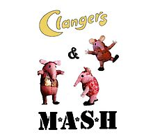 Clangers and M A S H Photographic Print