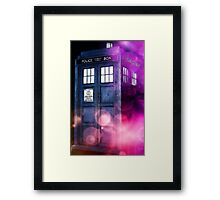 Public Police Box - Dr Who Framed Print
