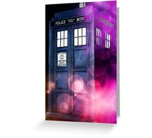 Public Police Box - Dr Who Greeting Card