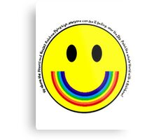 Rainbow Smiley Face Metal Print