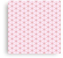 Pink Flower Pattern Canvas Print