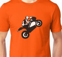 biker  wheeling on superbike Unisex T-Shirt