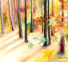 """Dream of Trees"" Watercolor/Digital by MiSook Kim by misook"