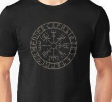 Vegvísir (Icelandic 'sign post') Symbol - black grunge Unisex T-Shirt
