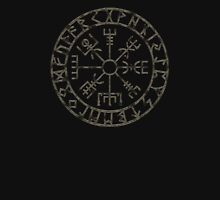 Vegvísir (Icelandic 'sign post') Symbol - black grunge Unisex T-Shirt