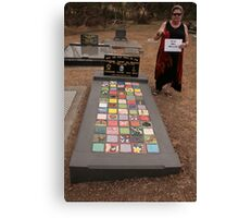 My Funeral Monument- ceramic tiles- I'll be back Canvas Print