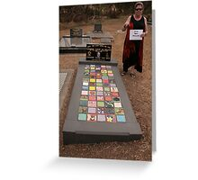 My Funeral Monument- ceramic tiles- I'll be back Greeting Card