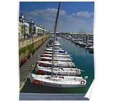 Synchronised Sailing - Stationary Style Poster