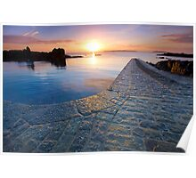 Bordeaux slipway sunrise Poster