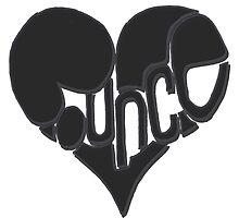 Bounce heart black by StemAparrel