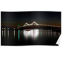 Claiborne Pell Bridge at Night Poster
