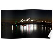 Claiborne Pell Bridge at Night Poster