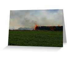 Hay Fire, Thrall, Texas Greeting Card