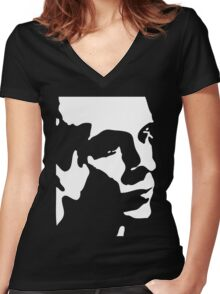 Brian Eno T-Shirt Women's Fitted V-Neck T-Shirt