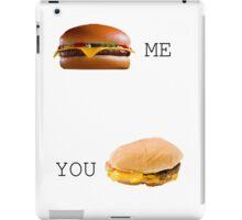 Cheeseburger Me vs You iPad Case/Skin