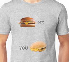 Cheeseburger Me vs You Unisex T-Shirt