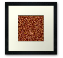 Dark Deep Red in Golden Lace Framed Print