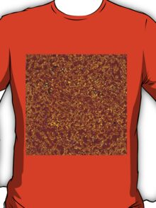 Dark Deep Red in Golden Lace T-Shirt