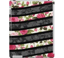 Pink, Black, and White Floral Print Swish  iPad Case/Skin