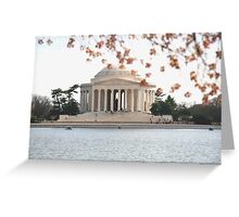 DC Spring - the Jefferson Memorial Greeting Card