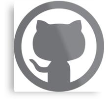 GitHub silhouette Metal Print