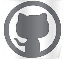 GitHub silhouette Poster