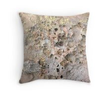 Cratered Surface of Rock Throw Pillow