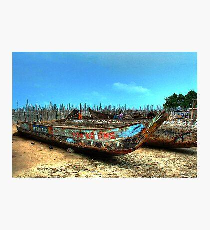 Yoo-Ke-Ene Boat at Tema Harbor, Ghana Photographic Print