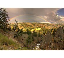 Yellowstone Rainbow Photographic Print