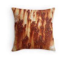 Rust Comets Throw Pillow