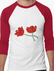 Tulips with Love, Happy Together  Men's Baseball ¾ T-Shirt