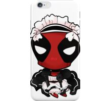cutie maid deadpool  iPhone Case/Skin