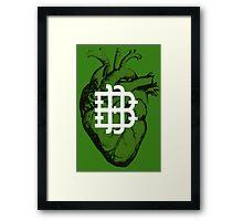 Real Betis Heart Framed Print