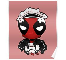 cutie maid deadpool  Poster