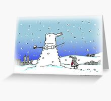 Snow Globes Greeting Card