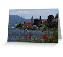 Adriatic Flowers and Towers Greeting Card