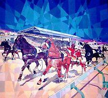 Horse Racing in Marsa - Malta by Joseph Barbara