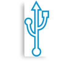 USB icon Canvas Print