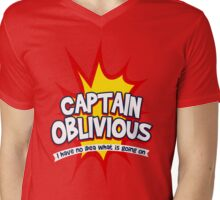 Captain Oblivious Mens V-Neck T-Shirt