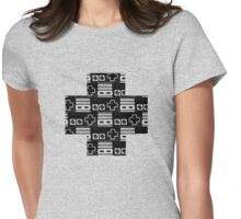 NES Pattern Womens Fitted T-Shirt