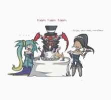 Sona , nidalee and Cho'Gath meal by JeanMich2