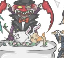 Sona , nidalee and Cho'Gath meal Sticker