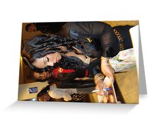 ASHANTI SIGNS AUTOGRAPHS  Greeting Card
