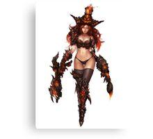 Dragon Miss Fortune Fan art Canvas Print