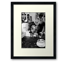 Coffee movement 2 Framed Print